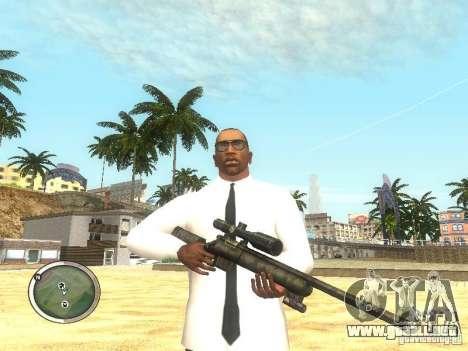 Sniper - Forest Camouflage para GTA San Andreas segunda pantalla