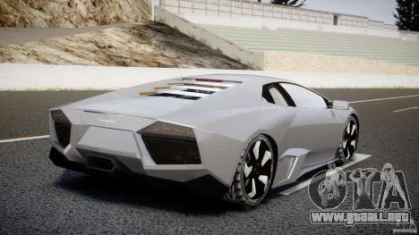 Lamborghini Reventon v2 para GTA 4 Vista posterior izquierda