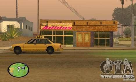 Tienda de ADIDAS para GTA San Andreas segunda pantalla