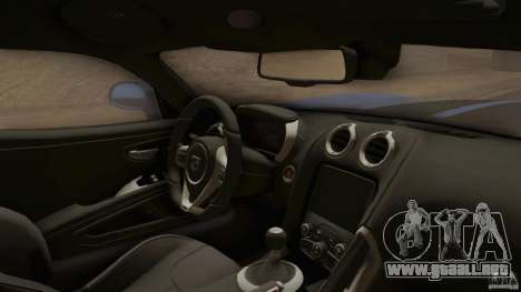 Dodge Viper GTS 2013 para la visión correcta GTA San Andreas