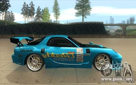 Mazda RX-7 911 Trust para visión interna GTA San Andreas