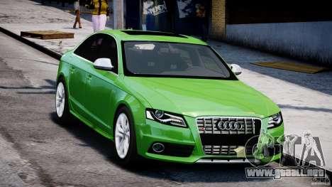Audi S4 2010 v1.0 para GTA 4 vista hacia atrás