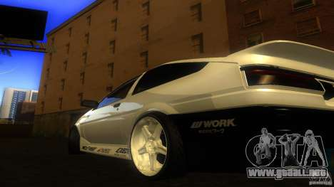 Toyota AE86 Trueno Touge Drift para GTA San Andreas vista posterior izquierda