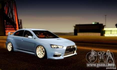 Mitsubishi Lancer Evolution X para el motor de GTA San Andreas