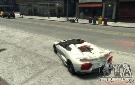 Lamborghini Reventon Roadster REDUX [EPM] para GTA 4 Vista posterior izquierda