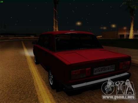 VAZ 21054 para GTA San Andreas vista hacia atrás