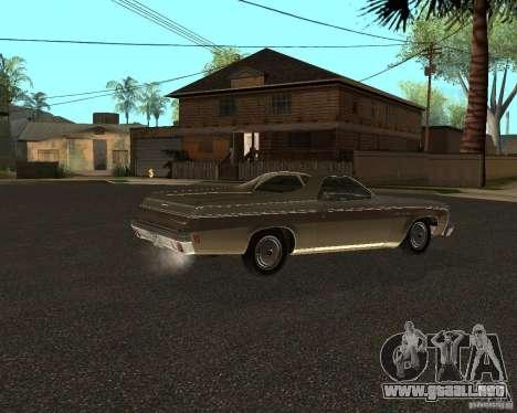Chevrolet El Camino 1973 para GTA San Andreas vista posterior izquierda
