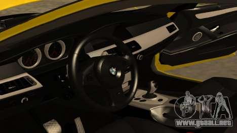 BMW M5 E39 para vista inferior GTA San Andreas
