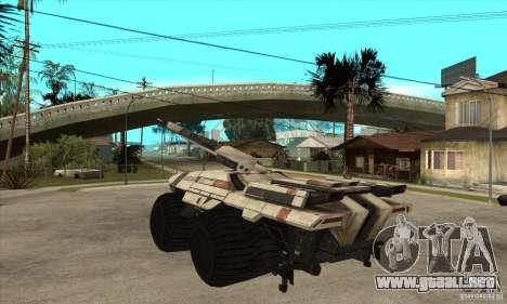 M35 Mako para GTA San Andreas vista posterior izquierda