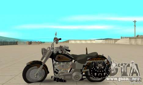 Harley Davidson FLSTF (Fat Boy) v2.0 Skin 5 para GTA San Andreas left