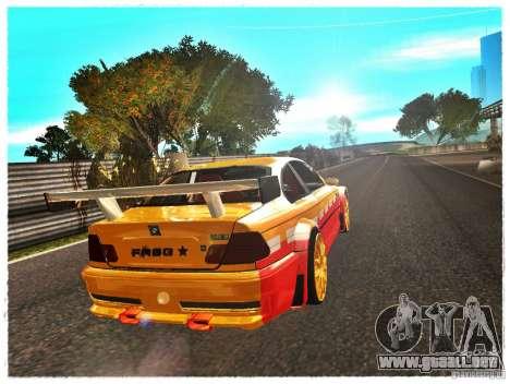BMW M3 Calibri-Ace para GTA San Andreas vista posterior izquierda