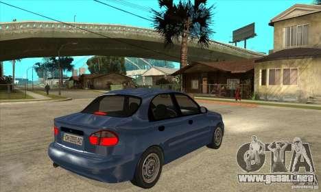 Daewoo Lanos v2 para la visión correcta GTA San Andreas