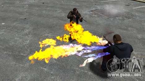 Balas de fuego para GTA 4 adelante de pantalla