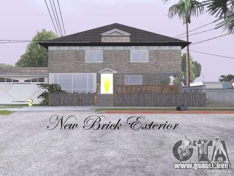 CJ Total House Remodel V 2.0 para GTA San Andreas quinta pantalla