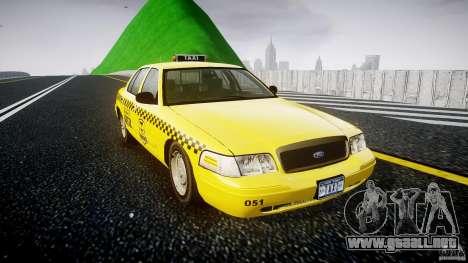 Ford Crown Victoria Raccoon City Taxi para GTA 4 visión correcta