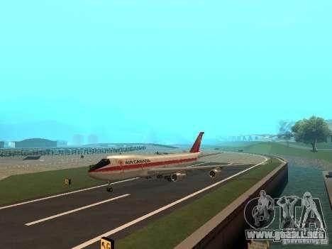 Boeing 747 Air Canada para GTA San Andreas vista posterior izquierda