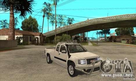 GMC Sierra para GTA San Andreas vista hacia atrás
