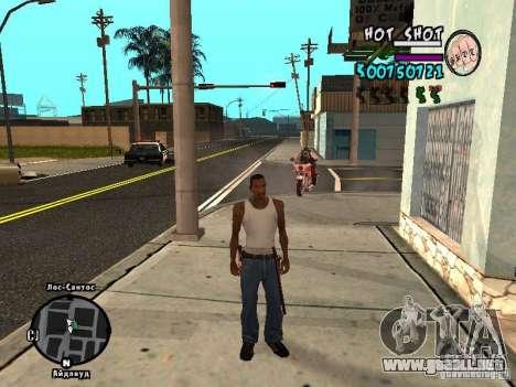 HUD by Hot Shot v.2.2 for SAMP para GTA San Andreas segunda pantalla