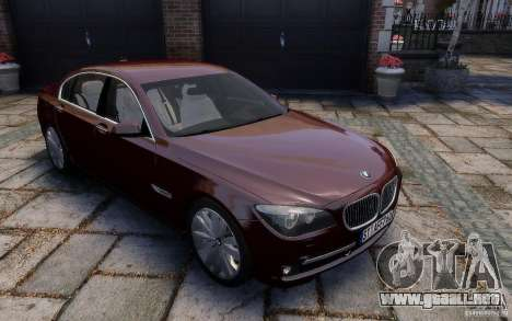 BMW 760Li 2011 para GTA 4 vista lateral