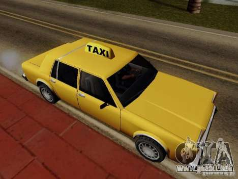 Greenwood Taxi para GTA San Andreas vista posterior izquierda
