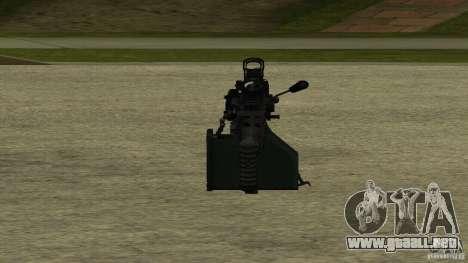M240 para GTA San Andreas sucesivamente de pantalla