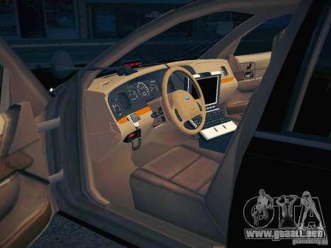 Ford Crown Victoria Police Intercopter para vista inferior GTA San Andreas