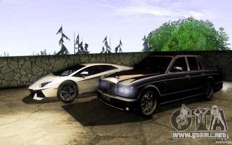 Bentley Arnage R 2005 para la vista superior GTA San Andreas