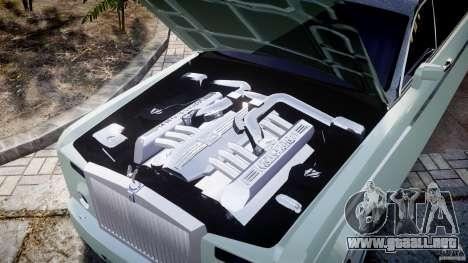 Rolls Royce Phantom Sapphire Limousine Disco para GTA 4 vista superior