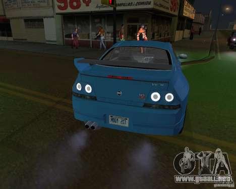 Nissan Skyline GT-R R-33 para GTA San Andreas vista posterior izquierda
