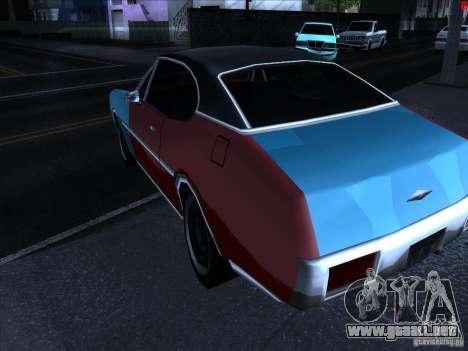 Colores más brillantes para los coches para GTA San Andreas sucesivamente de pantalla