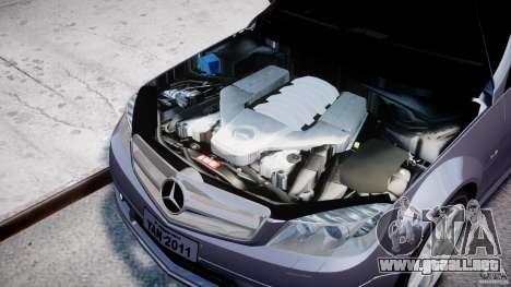 Mercedes-Benz C180 CGi Classic Special 2009 para GTA 4 visión correcta