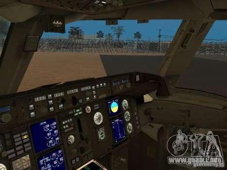 Boeing 757-200 American Airlines para GTA San Andreas vista hacia atrás