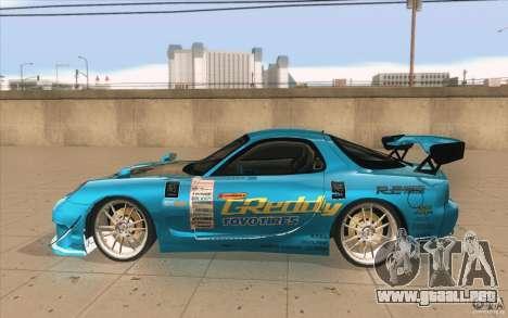 Mazda RX-7 911 Trust para GTA San Andreas left