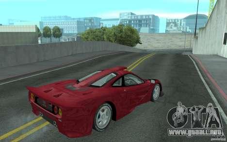 Mclaren F1 GT (v1.0.0) para la visión correcta GTA San Andreas