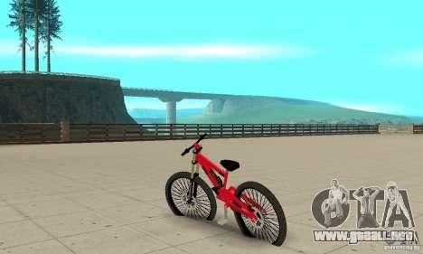 BMX nueva para GTA San Andreas vista posterior izquierda