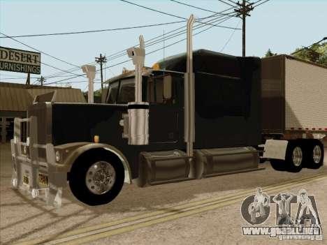 Western Star 4900 Aust para la visión correcta GTA San Andreas