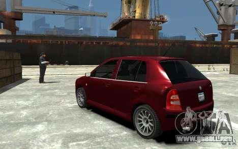 Skoda Fabia para GTA 4 Vista posterior izquierda
