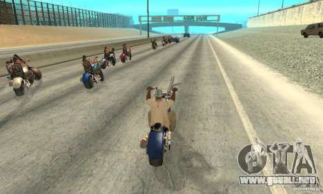 BikersInSa (los moteros en SAN ANDREAS) para GTA San Andreas quinta pantalla
