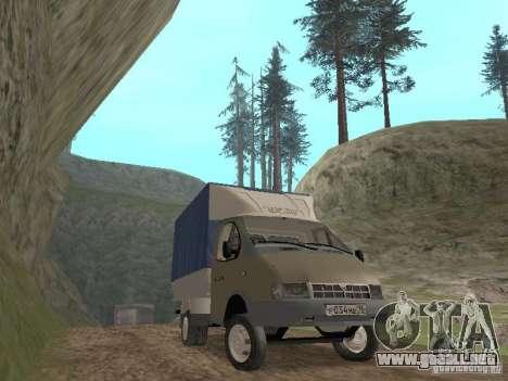 GAZ 3302 en 2001. para GTA San Andreas vista hacia atrás