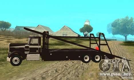Kenworth Car Hauler para GTA San Andreas left