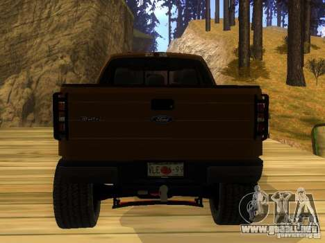 Ford F-150 Sargento Federal Edition para GTA San Andreas left