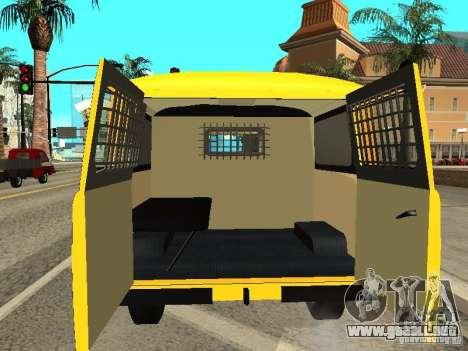 Policía 2206 UAZ para visión interna GTA San Andreas