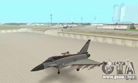 EF-2000 Typhoon V1.3 para la visión correcta GTA San Andreas