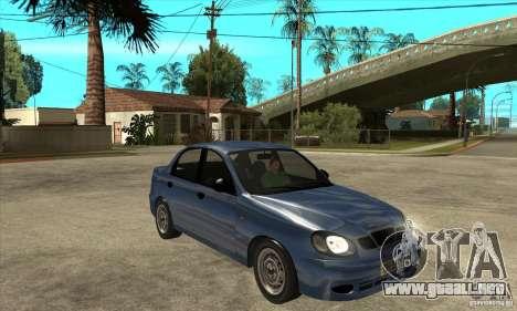 Daewoo Lanos v2 para GTA San Andreas vista hacia atrás