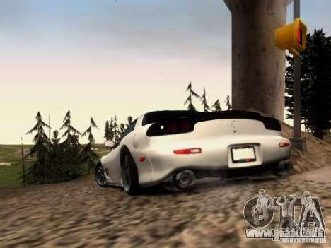Mazda RX7 Tuning para GTA San Andreas vista posterior izquierda