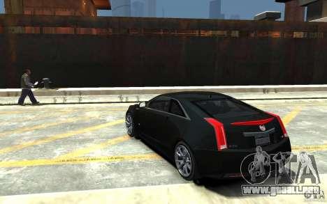 Cadillac CTS-V Coupe 2011 v.2.0 para GTA 4 Vista posterior izquierda