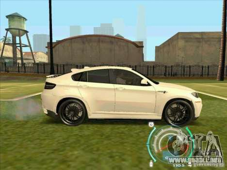 BMW X6 M Hamann Design para GTA San Andreas vista posterior izquierda