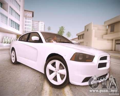 Dodge Charger 2011 v.2.0 para GTA San Andreas vista hacia atrás