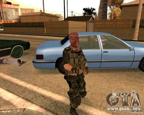 Dušmana piel de COD4 para GTA San Andreas segunda pantalla