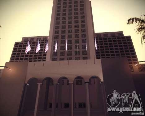 Nuevas texturas del pasillo de ciudad para GTA San Andreas segunda pantalla
